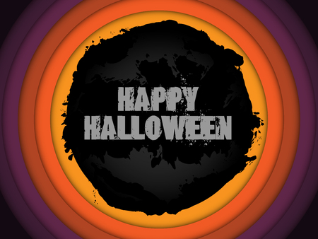 Halloween Background Circle Grunge Vector