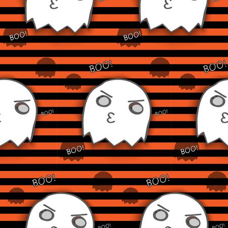 Halloween Ghost Seamless Pattern Background Vector Vector