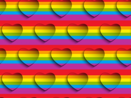 Valentine Day Gay Heart Seamless Pattern Background Vector Vector