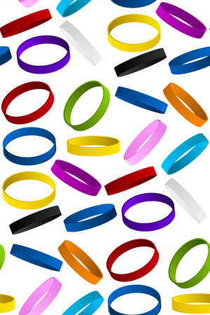 cause: Rubber Wristband Bracelet Seamless Pattern Background Vector