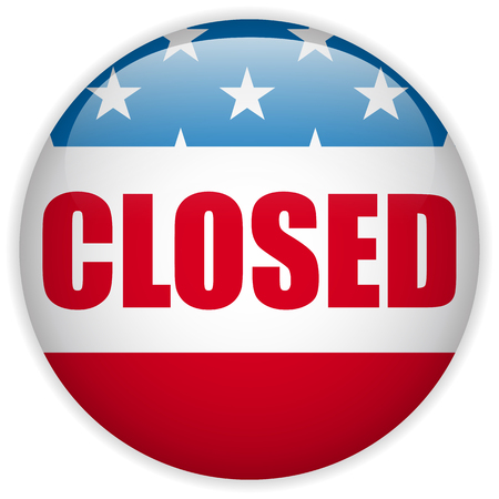 Vector - United States Shutdown Governement Button