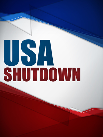 Vector - Shutdown Closed United States of America Background Vector
