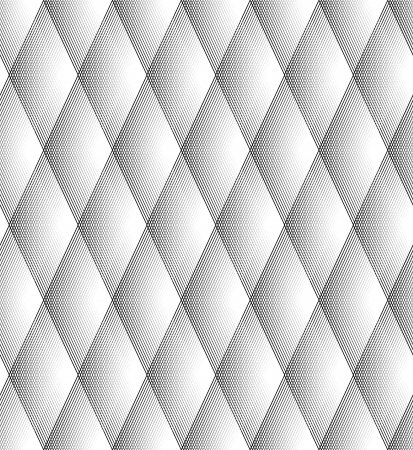 Seamless Diamond Pattern Black And White Lines Vector