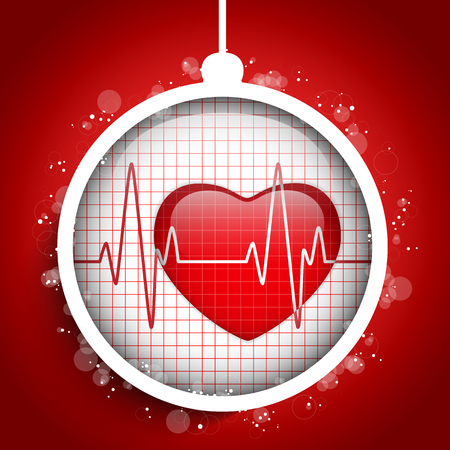 Vector - Merry Christmas Doctor Hospital Heart Ball Vector