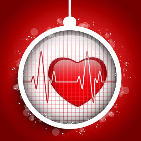 doctor vector: Vector - Merry Christmas Doctor Hospital Heart Ball Illustration