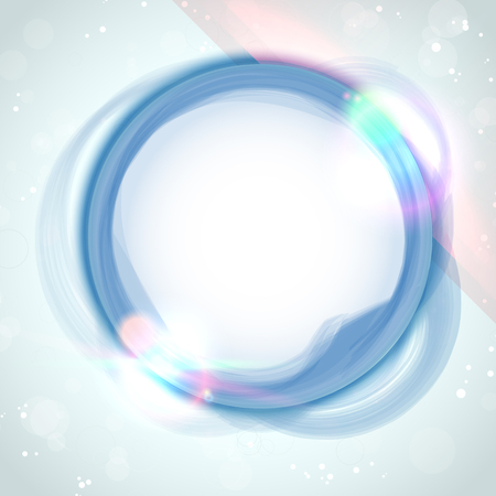 Vector - Modern Blue Circle Glowing Effects Vector