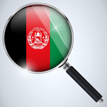 Vector - NSA USA Government Spy Program Country Afghanistan Vector