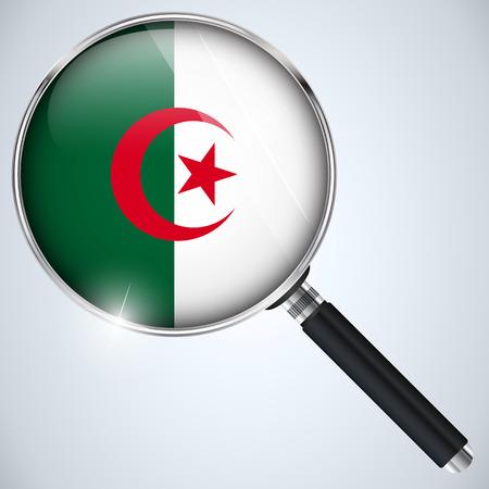 Vector - NSA USA Government Spy Program Country Algeria Vector