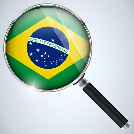 spying: Vector - NSA USA Government Spy Program Country Brazil