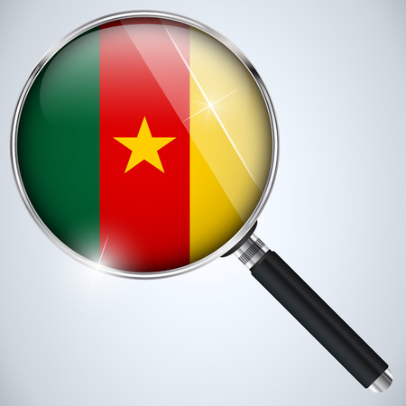 Vector - NSA USA Government Spy Program Country Cameroon Vector
