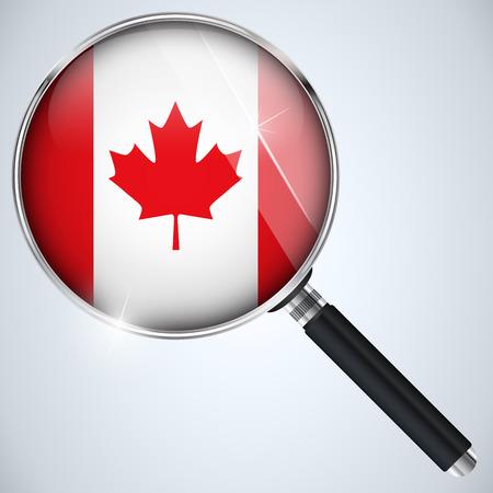 Vector - NSA USA Government Spy Program Country Canada Vector