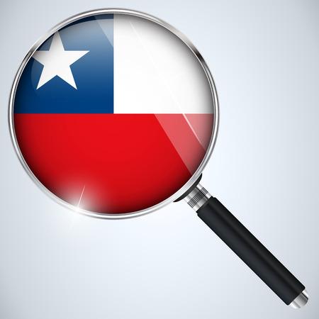 ベクトル - NSA 米国政府スパイ プログラム国チリ 写真素材 - 23098060