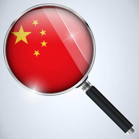 spying: Vector - NSA USA Government Spy Program Country China