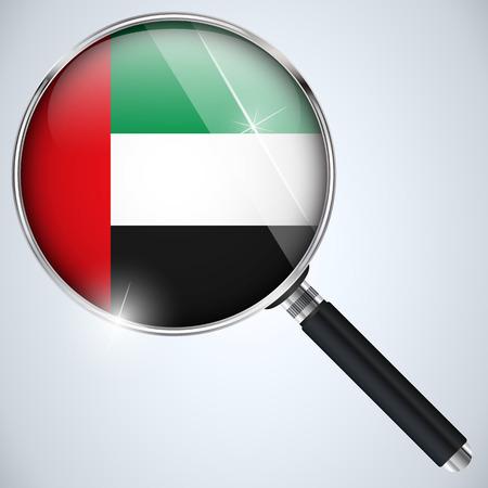 Vector - NSA USA Government Spy Program Country Emirates Vector