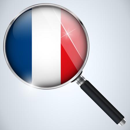 Vector - NSA USA Government Spy Program Country France Vector