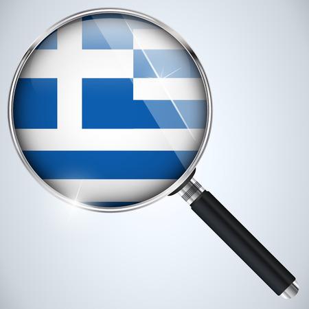 Vector - NSA USA Government Spy Program Country Greece Vector