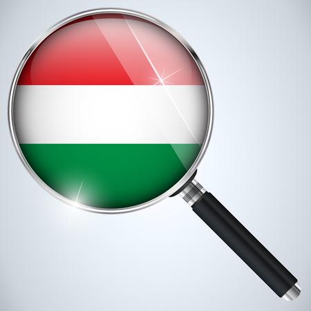 Vector - NSA USA Government Spy Program Country Hungary Vector