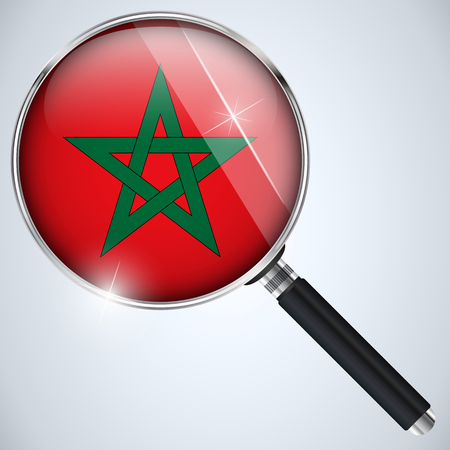 Vector - NSA USA Government Spy Program Country Morocco Vector