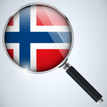 Vector - NSA USA Government Spy Program Country Norway Vector