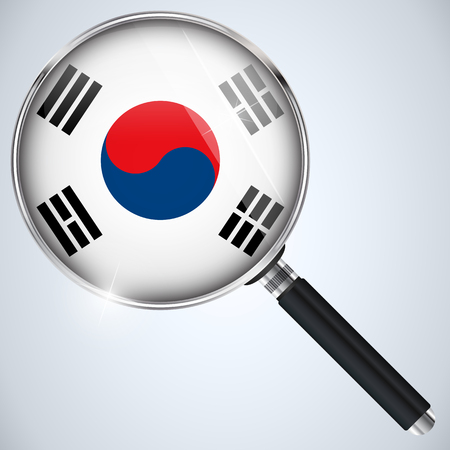 Vector - NSA USA Government Spy Program Country South Korea Vector