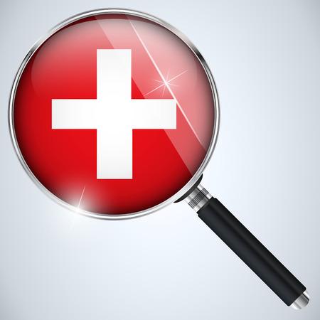 Vector - NSA USA Government Spy Program Country Switzerland Vector