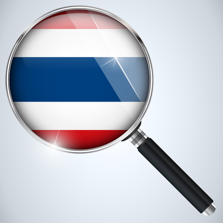 Vector - NSA USA Government Spy Program Country Thailand Vector