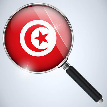 Vector - NSA USA Government Spy Program Country Tunisia Vector