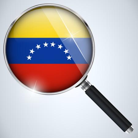 Vector - NSA USA Government Spy Program Country Venezuela Vector