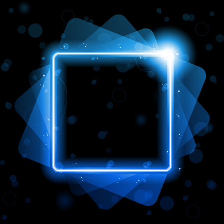 Vector - Blue Square  Lines Background Neon Laser Vector