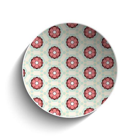 Vector - Flower Spring Button Sticker Icon Vector