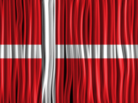 Vector - Denmark Flag Wave Fabric Texture Background Vector