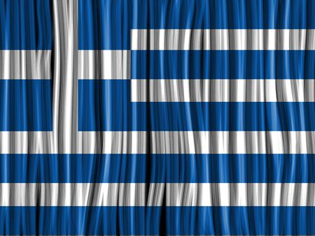 greece flag: Vector - Greece Flag Wave Fabric Texture Background Illustration