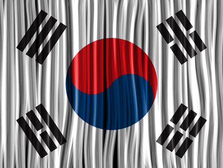Vector - South Korea Flag Wave Fabric Texture Background Stock Vector - 23356867