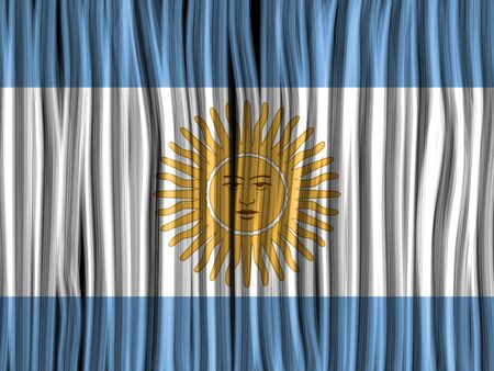 Vector - Argentina Flag Wave Fabric Texture Background Vector