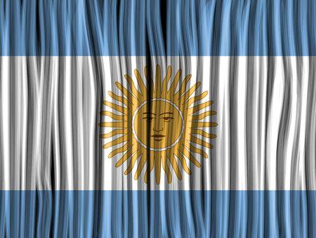 bandera argentina: Vector - Argentina Flag Wave Tela textura de fondo