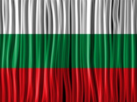 bulgaria: Vector - Bulgaria Flag Wave Fabric Texture Background
