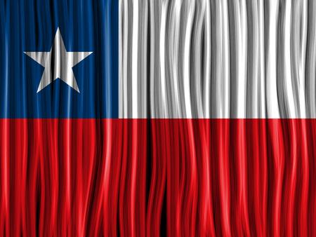 bandera de chile: Vector - Chile Flag Wave Tela textura de fondo