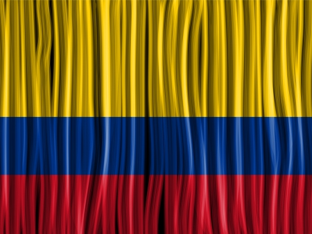 Vector - Colombia Flag Wave Fabric Texture Background Vector