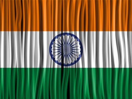 indische muster: Vector - Indien Flag Wave-Fabric Texture Background