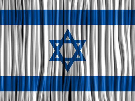Vector - Israel Flag Wave Fabric Texture Background Stock Vector - 23356950
