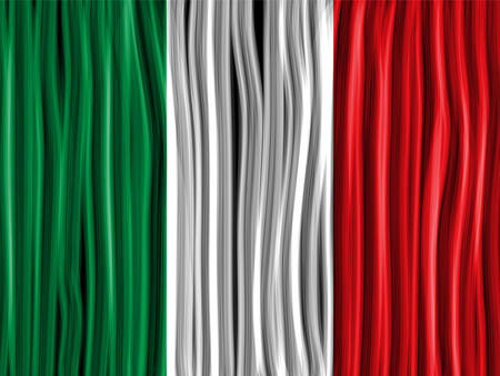 Vector - Italy Flag Wave Fabric Texture Background Vector