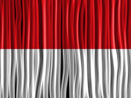 monaco: Vector - Monaco Flag Wave Fabric Texture Background Illustration