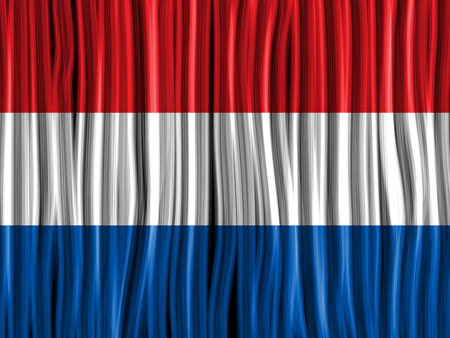 Vector - Netherlands Flag Wave Fabric Texture Background Vector