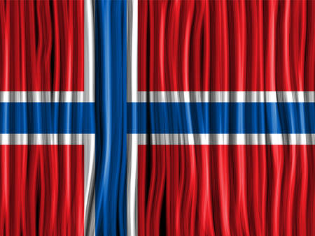 Vector - Norway Flag Wave Fabric Texture Background Vector
