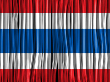 seta thailandese: Vector - Bandiera Tailandia onda sfondo trama di tessuto
