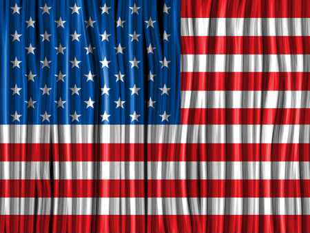 us independance: Vector - USA Flag Wave Fabric Texture Background Illustration