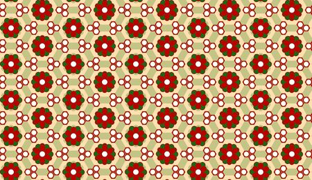 Vector - Christmas Flower Background Seamless Pattern Vector