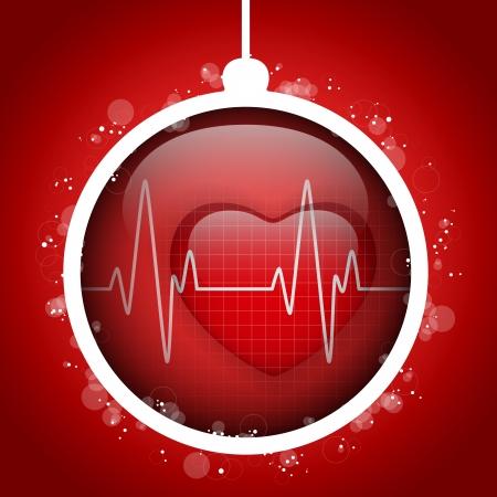 doctors: Vector - Merry Christmas Doctor Hospital Heart Ball Illustration