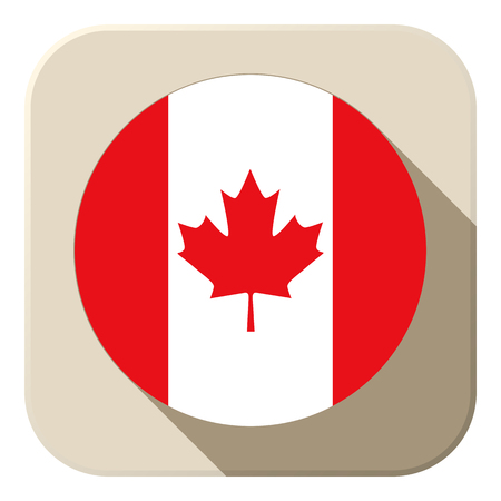 Vecteur - drapeau du Canada Button Icon moderne