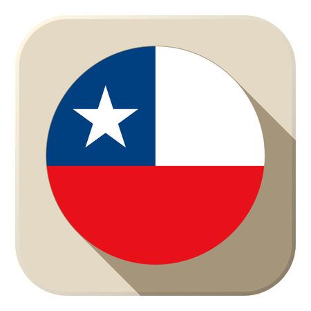 bandera de chile: Vector - Bandera Chile Icono del botón Moderno